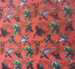 AVENGERS HULK IRON MAN CAPTAIN AMERICA THOR FALCON MARVEL- Fabric - Price Per Metre